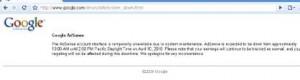 Google Adsense Down