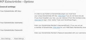 Ezine Articles WordPress Plugin